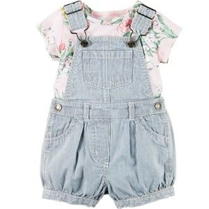 Carter's Engineer Striped Shortalls and Top